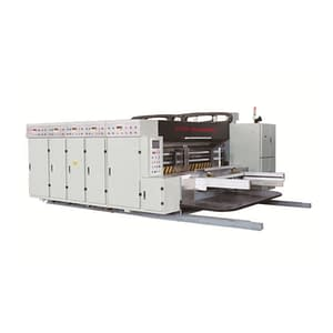 2 color printing slotting die cutting machine