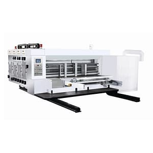 The Four Phase Fully Automatic Printing Slotting And Die Cutting Machine is a composite production equipment that integrates the five processes of corrugated cardboard blank cutting, slotting, slitting, crimping and printing.