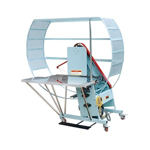 Semi-Automatic-Cardboard-PE-Strapping-Machine