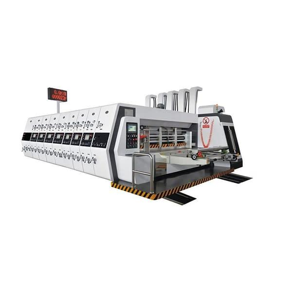High speed lead edge feeder printing slotting die cutting machine