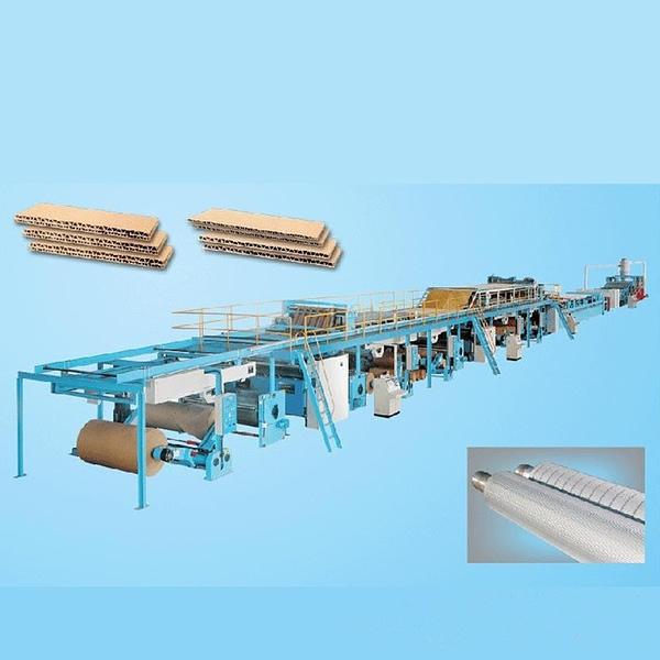 Used corrugated cardboard production line