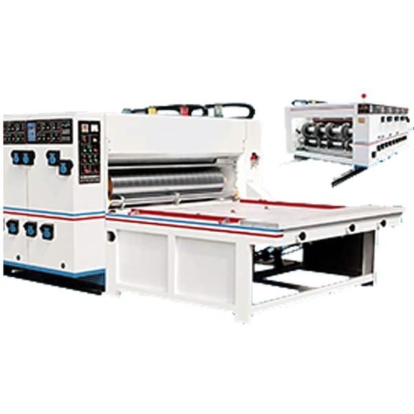 Semi Automatic Chain Feeding Flexo Printing Slotting Die Cutting Machine